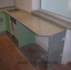 Кухонная столешница и подоконник из камня, Гранит Белла Вайт.jpg
