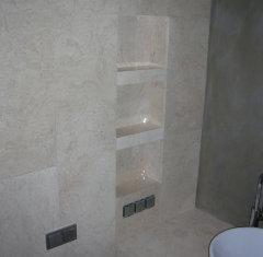 Облицовка ванной комнаты: мрамор Крема Нова.jpg