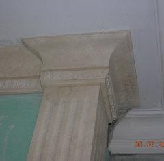 Облицовка колонны: мрамор Крема Нова.jpg